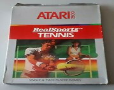 Covers RealSports Tennis atari2600