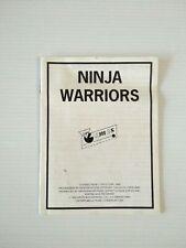 Covers Ninja Warriors commodore64