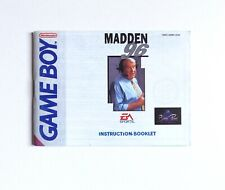 Covers Madden 96 gameboy
