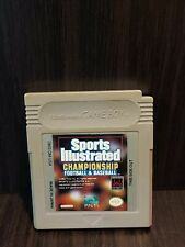 Covers Sports Illustrated: Championship Football & Baseball gameboy