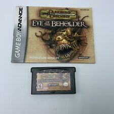 Covers Dungeons and Dragons: Eye of the Beholder gameboyadvance