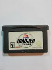 Covers Madden NFL 2003 gameboyadvance