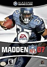 Covers Madden NFL 07 gamecube
