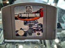 Covers F-1 World Grand Prix nintendo64