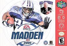 Covers Madden NFL 2001 nintendo64