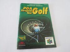 Covers PGA European Tour Golf nintendo64