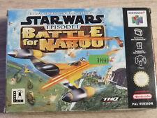 Covers Star Wars Episode I : Battle for Naboo nintendo64