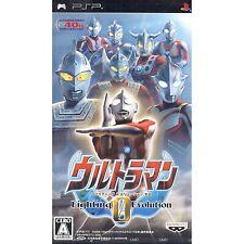 Covers Ultraman Fighting Evolution 0 psp