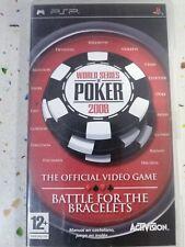 Covers World Series of Poker 2008: Battle for the Bracelets psp
