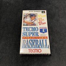 Covers Tecmo Super Baseball snes