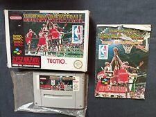 Covers Tecmo Super NBA Basketball snes