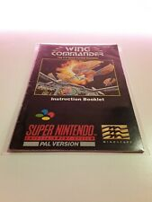 Covers Wing Commander snes