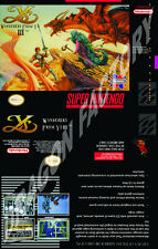 Covers Ys III: Wanderers from Ys snes