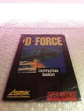 Covers D-Force snes
