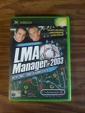 Covers LMA Manager 2003 xbox