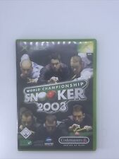 Covers World Championship Snooker 2003 xbox